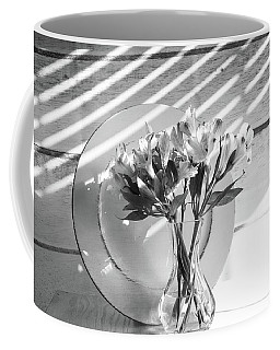 Bouquet And Plate-bw Coffee Mug
