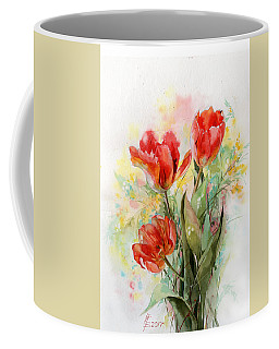 Bouquet Of Red Tulips Coffee Mug
