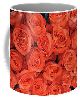 Bouquet Of The  Living Coral Roses Coffee Mug