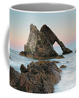 Coffee Mug featuring the photograph Bow Fiddle Rock Sunset - Port Knockie by Grant Glendinning