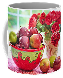 Bowl Of Red Apples Coffee Mug