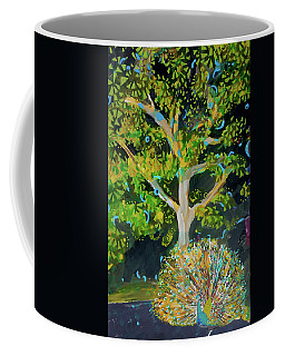 Branching Out Peacock Coffee Mug