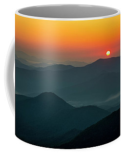 Coffee Mug featuring the photograph Brasstown Bald Sunrise by Andy Crawford