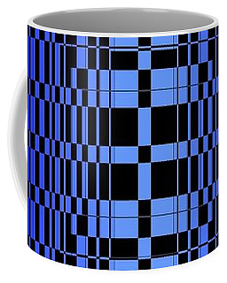 Coffee Mug featuring the painting Brave Blue  by Arttantra