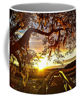 Coffee Mug featuring the photograph Breaking Sunset by Robert Knight