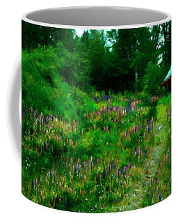Coffee Mug featuring the photograph Breeze On The Lupine Field by Wayne King