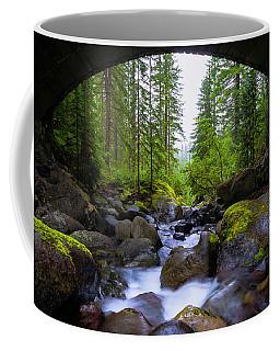 Bridge Below Rainier Coffee Mug