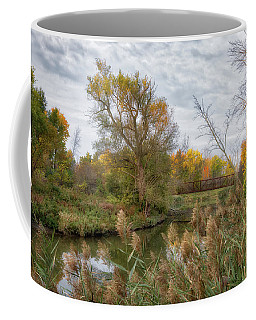 Coffee Mug featuring the photograph Bridge Over Ellicott Creek by Guy Whiteley