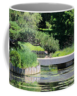 Bridge Over Pond In Japanese Garden Coffee Mug