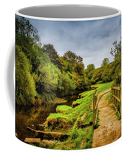 Bridge With Falling Colors Coffee Mug