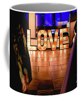 Bright Wooden Letters With Word Love In A Party Coffee Mug