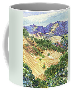 Coffee Mug featuring the painting Briones From Mount Diablo Foothills by Judith Kunzle