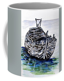 Coffee Mug featuring the painting Broken But Afloat by Clyde J Kell