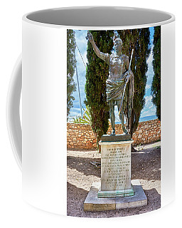 Coffee Mug featuring the photograph Bronze Copy Of Augustus Of Prima Porta Sculpture In Spain by Eduardo Jose Accorinti