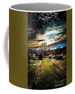 Brooding Sky Over Cemetery Coffee Mug