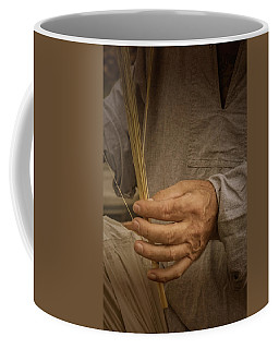 Coffee Mug featuring the photograph Broom  Maker by Guy Whiteley