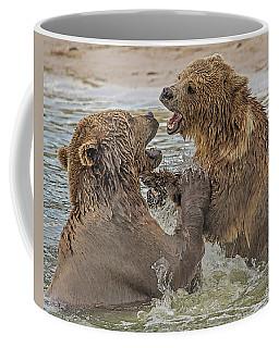 Brown Bears Fighting Coffee Mug