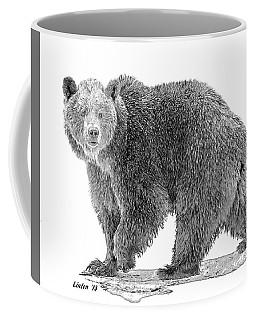 Brown Black And White Coffee Mug
