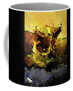 Brown Cat On The Cushion Coffee Mug