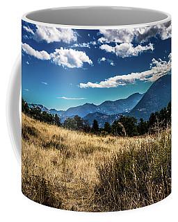 Brown Grass And Mountains Coffee Mug