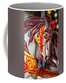 Brown Mane Carousel Horse Coffee Mug