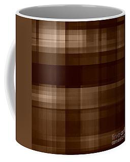 Coffee Mug featuring the digital art Brown Plaid by Rachel Hannah