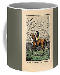 Coffee Mug featuring the painting Brown Stallion, Omey by Val Byrne
