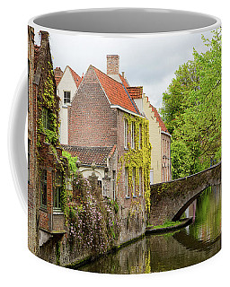 Coffee Mug featuring the photograph Bruges Footbridge Over Canal by Nathan Bush