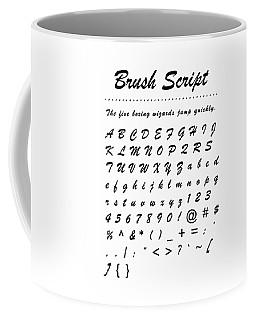 Brush Script - Most Wanted Coffee Mug