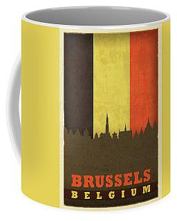 Brussels Belgium World City Flag Skyline Coffee Mug