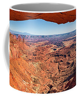 Coffee Mug featuring the photograph Buck Canyon Through Mesa Arch by Andy Crawford