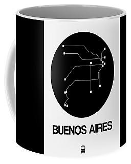 Buenos Aires Black Subway Map Coffee Mug