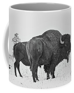 Buffalo In The Snow Coffee Mug