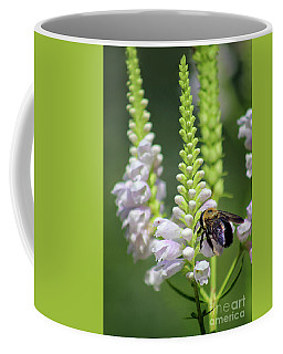 Bumblebee On Obedient Flower Coffee Mug