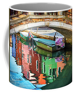 Burano Bridge Reflections Coffee Mug