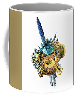 Coffee Mug featuring the photograph Burj Khalifa Tiny Planet by Chris Cousins