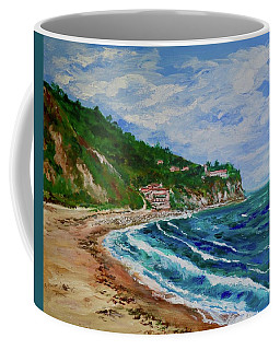 Coffee Mug featuring the painting Burnout Beach, Redondo Beach California by Tom Roderick