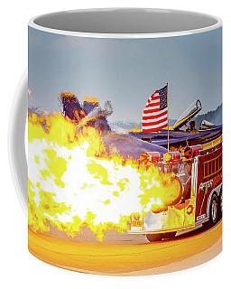 Burst Of Flames Jet Fire Truck Coffee Mug