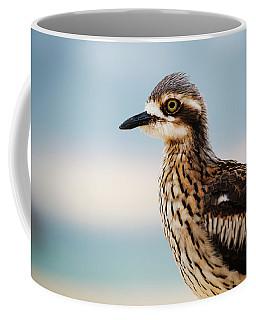 Bush Stone-curlew Resting On The Beach. Coffee Mug