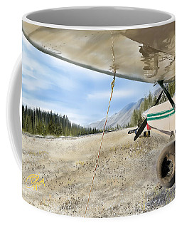 Bush Strip At Muncho Lake Coffee Mug