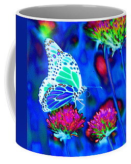 Butterfly Blue Coffee Mug