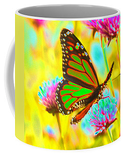 Butterfly Green  Coffee Mug