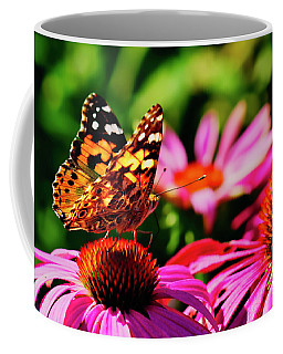 Coffee Mug featuring the photograph Butterfly Side by Meta Gatschenberger