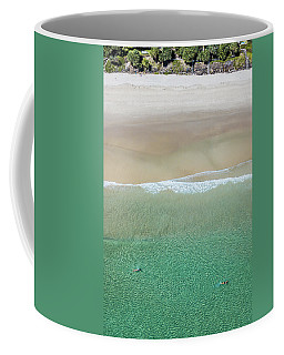 Coffee Mug featuring the photograph Byron Bay Swimmers by Chris Cousins