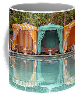Coffee Mug featuring the photograph Cabanas by Alison Frank