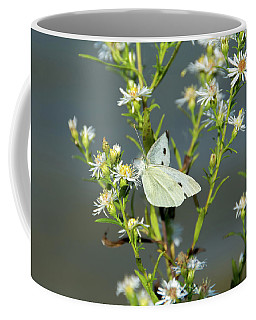 Cabbage White Butterfly On Flowers Coffee Mug