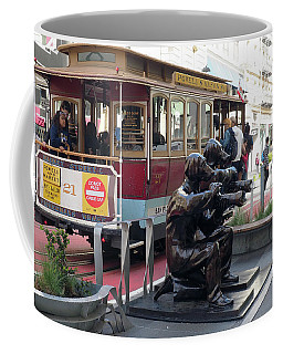 Cable Car And Paparazzi Dogs Coffee Mug