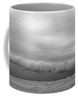 Coffee Mug featuring the photograph Cactus Roll Cloud Bw by Scott Cordell
