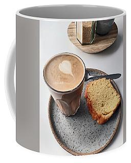Cafe. Latte And Cake.  Coffee Mug