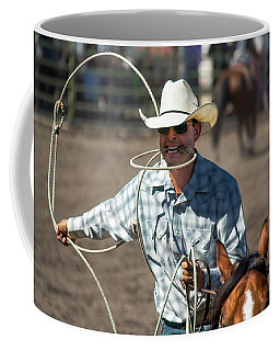 Coffee Mug featuring the photograph Calf Roper by Mike Long